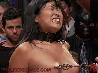 Asian Newborn Gets a Hardcore BDSM Teach Fuck