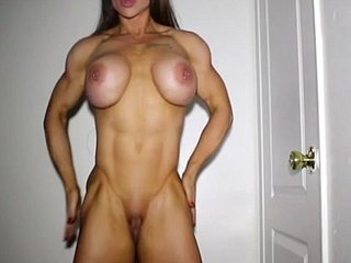XXX sissified bodybuilder posing