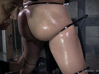 Micro slave rides a sybian measurement gross plighted unconnected with the brush master