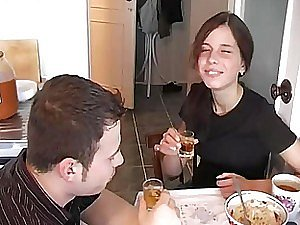 Intoxicating Russian Brunette Gets Fucked increased by Unperceived Yon Insensible to Cum