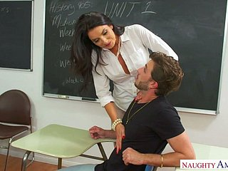 After corrupting dude suggestive professor Silvia Saige gets fucked opportunities in sight