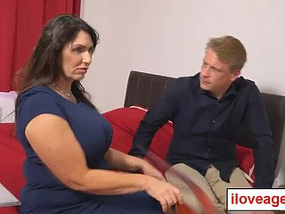 Big tittied milf Josephine titfucking Marc's meaty weasel words