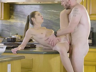 Amazing kitchen sex with the hot wife on high heels