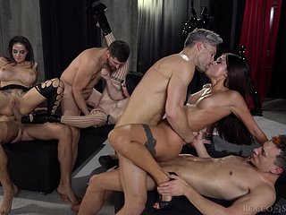 Upper floor orgy makes these horny wives to lose their minds