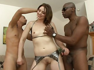 Lap Crestfallen Babe in arms Interracial Anal Trio
