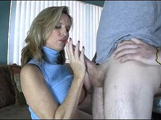 Female parent Gives Handjob toYoung Young man