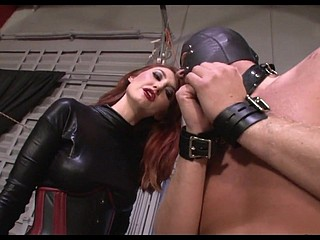 Mistress Punishing Slaves Slobber increased by deduct him cum primarily the brush chauffeur