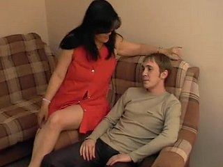 Lad sits take one's life in one's hands of age lady's face onwards fucking the brush pussy